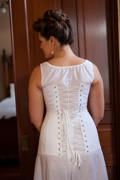 Mid-bust Edwardian Corset -- Custom Sized Made to Order