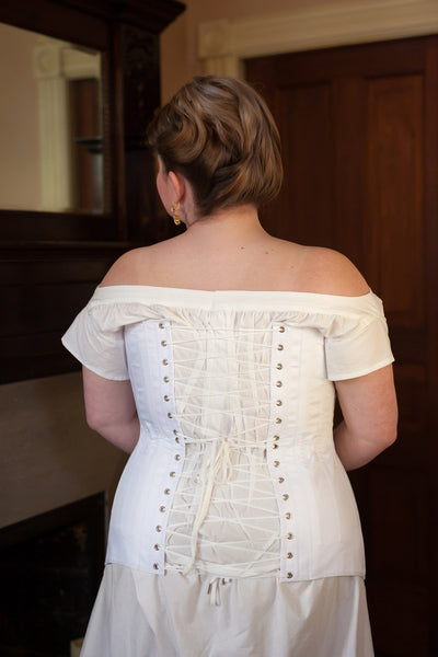 1910's Mid-Bust Titanic Corset -- Ready to Ship in Standard & Plus Sizing