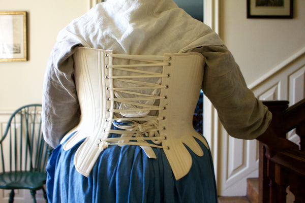 1750's-1770's Strapless Stays -- Synthetic Whalebone