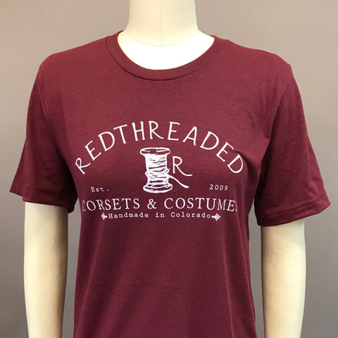 Men's/Unisex Redthreaded T-Shirt - Wine Red