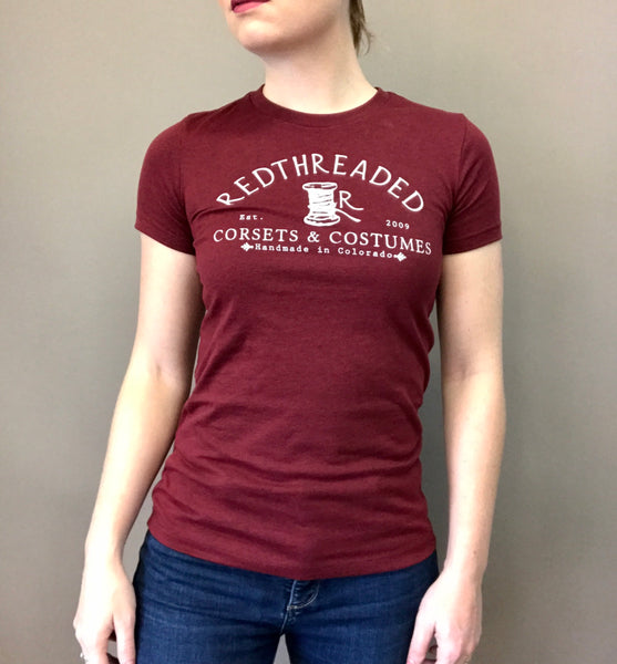 Women's Redthreaded T-Shirt - Wine Red