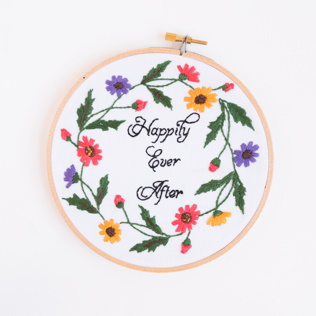 Happily Ever After Embroidery Art