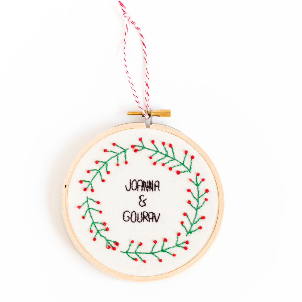 couples christmas ornament