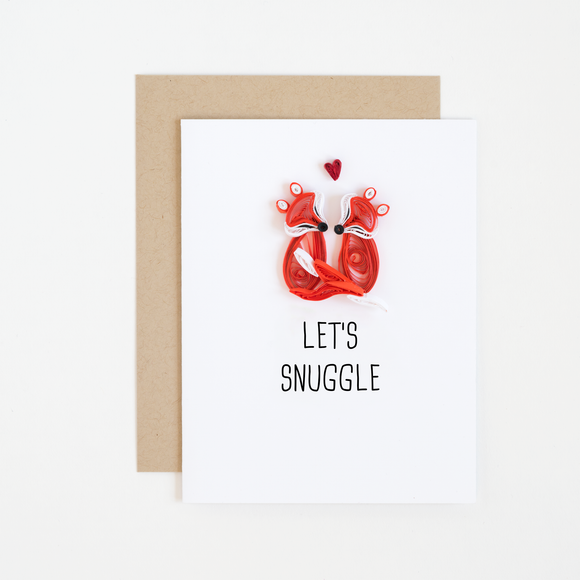 Lets Snuggle Card