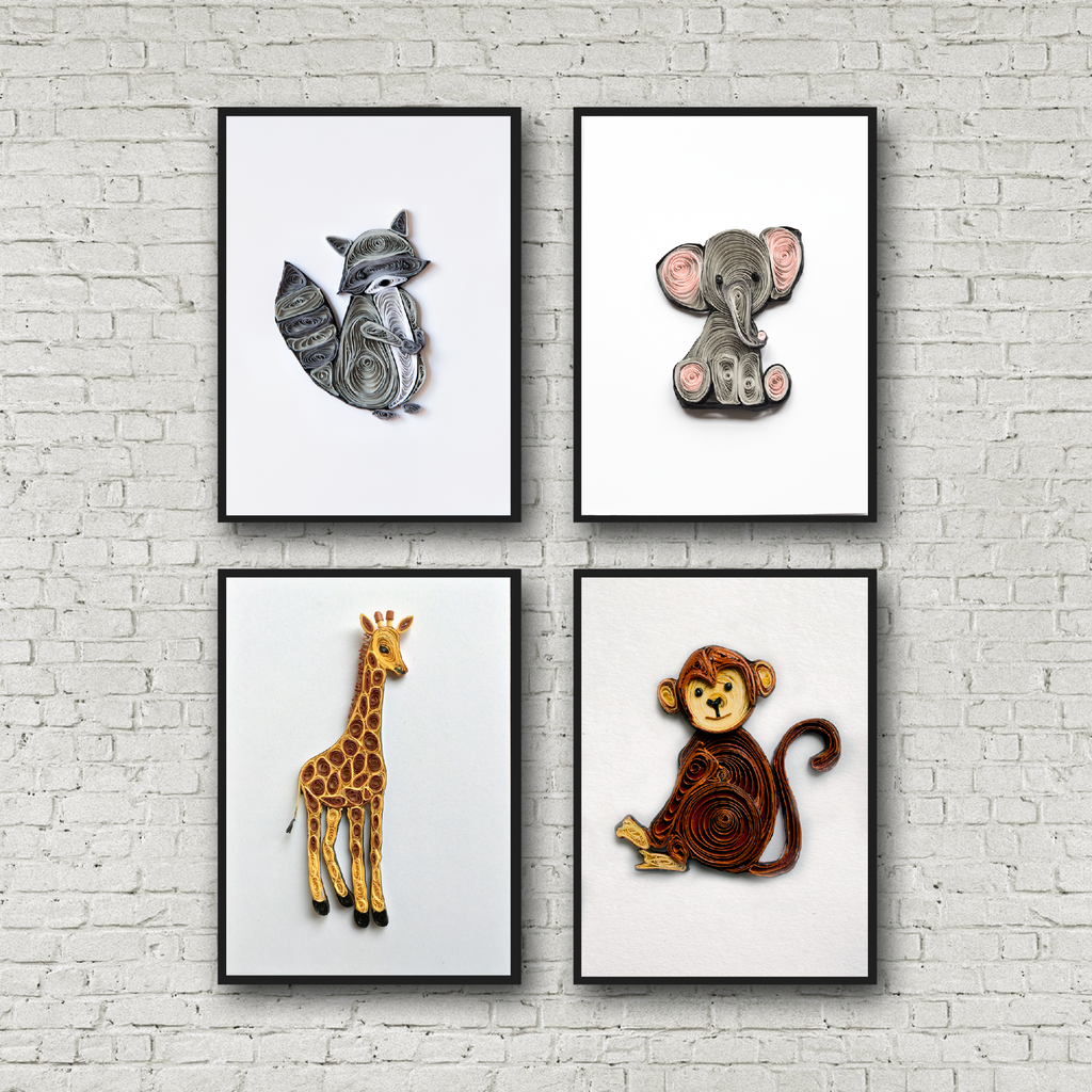 safari themed nursery art