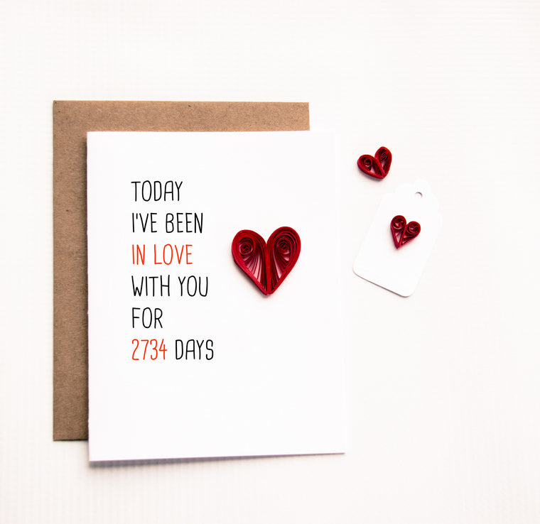 Today I Have Been In Love Card