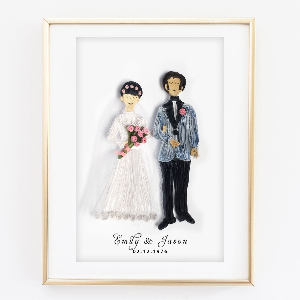personalized wedding portrait
