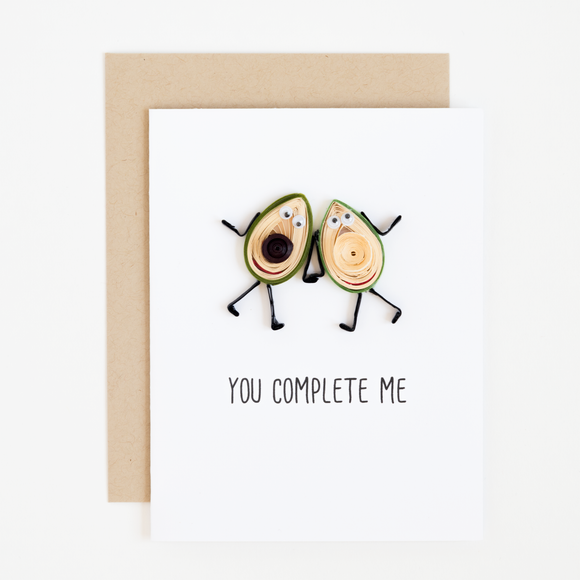 You Complete Me Love Card