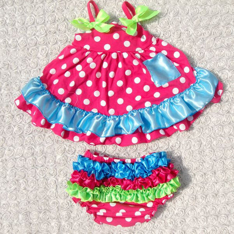 Candy Swing Top with Ruffle Bottoms - Eskimo Kisses Boutique