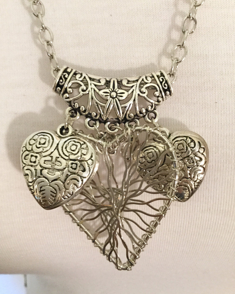 Heart Shape Statement Necklace/Free Shipping