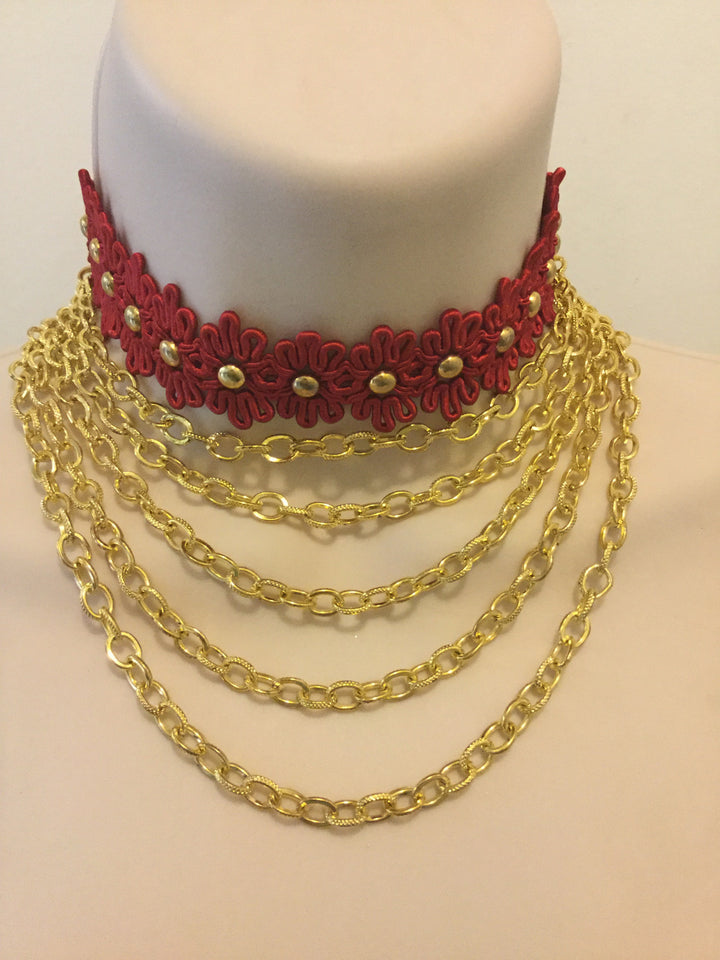 Handcrafted Red Jewelry/Free Shipping