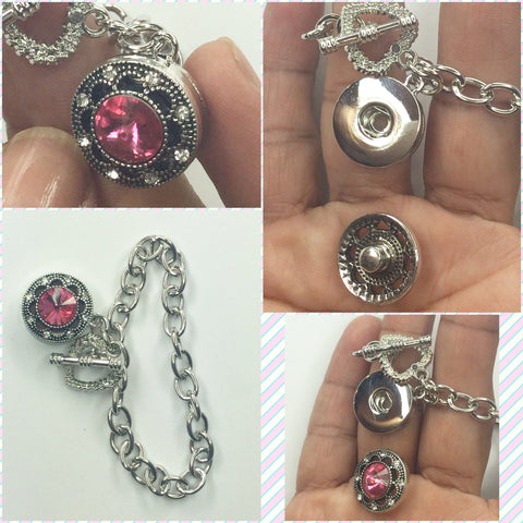 Pink snap Interchangeable Bracelet