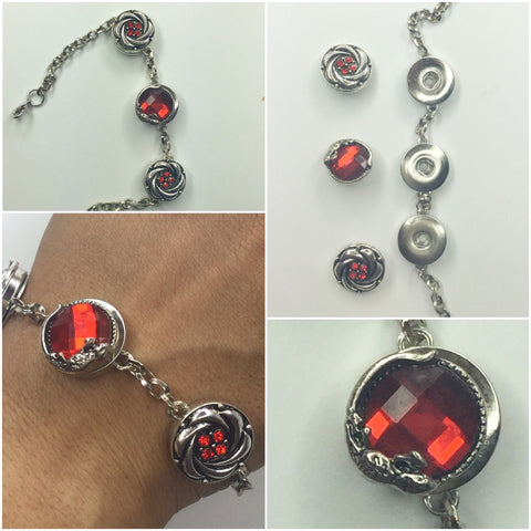 Red Snap Interchangeable Bracelet