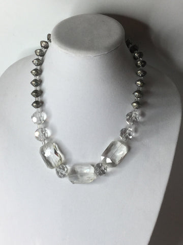 Crystal Stone Necklace/Free Statement