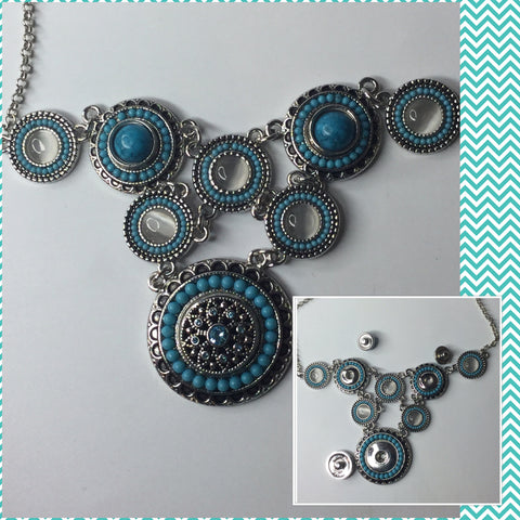 Blue Snap Interchangeable Necklace