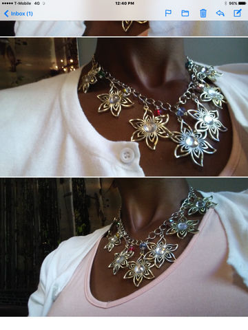 Flower Statement Necklace - Oracle Jewelry - 1