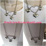 Sliver Heart Shape Necklace/Free Shipping - Oracle Jewelry - 3