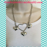 Sliver Heart Shape Necklace/Free Shipping - Oracle Jewelry - 5