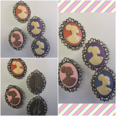 Vintage Cameo BROOCHES AND PINS/Free Shipping - Oracle Jewelry - 1