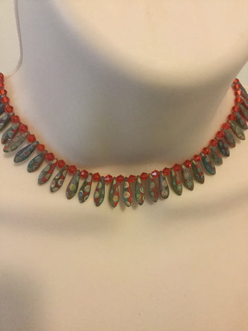 Red  Egyptian  Stlye Necklace /Free Shipping - Oracle Jewelry - 1