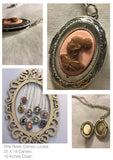 Vintage Cameo locket Blue,Purple,Pink,Sliver and Gold/Free Shipping - Oracle Jewelry - 17