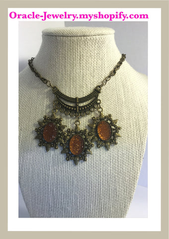 Statement Bronze Necklace/Free Shipping - Oracle Jewelry - 1