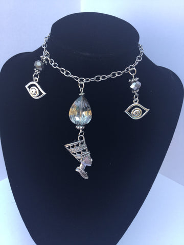 Sliver Egyptian Statement Necklace/Free Shipping - Oracle Jewelry - 1