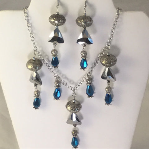 Blue Egyptian Style Necklace/Free Shipping - Oracle Jewelry - 1