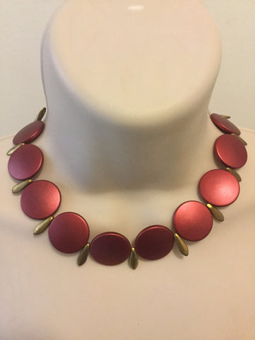 Red statement Trendy Necklace/Free Shipping - Oracle Jewelry - 1