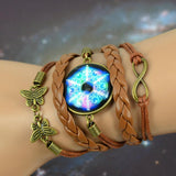 Charm Bracelets - Foxy Braided Galaxy Leather Bracelet - FREE OFFER