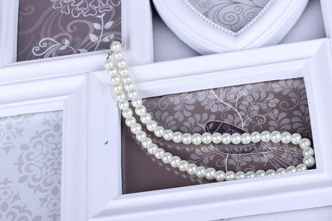 Foxy Simulated Pearl Necklace
