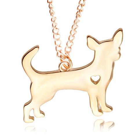 Pendant Necklaces - Foxy Chihuahua Puppy Pendant