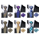 Ties & Handkerchiefs - Foxy Fashion 100% Silk Necktie, Hanky, Cufflink Sets - FREE OFFER