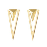 Arrow and triangle earjacket set 925 sterling silver earrings from MAYAYUEN DELTA collection