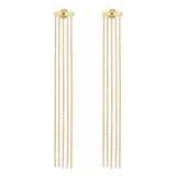 Stackable tassel earjacket 925 sterling silver from MAYAYUEN DELTA collection