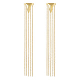 Arrow and tassel earjacket set 925 sterling silver earrings from MAYAYUEN DELTA collection