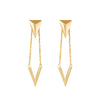 Arrow and pendant 925 sterling silver earrings from MAYAYUEN DELTA collection