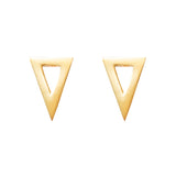 Triangle studs 925 sterling silver from MAYAYUEN DELTA collection