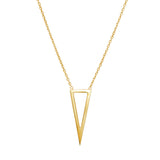 Signature triangle necklace 925 sterling silver from MAYAYUEN DELTA collection
