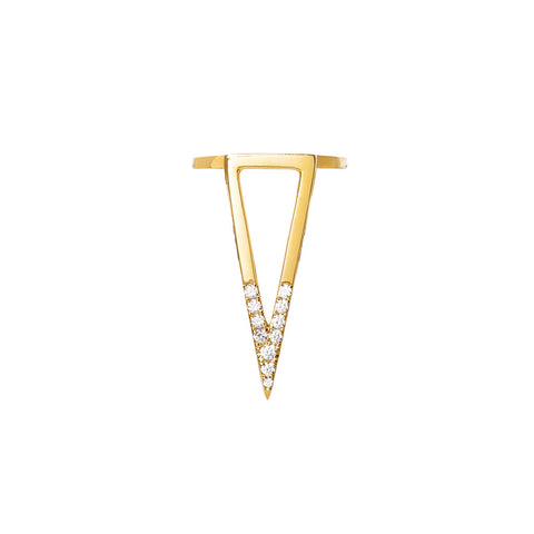 DELTA JOUR duo triangle vertical ring