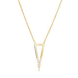 Signature triangle necklace 925 sterling silver studded with cubic zirconia
