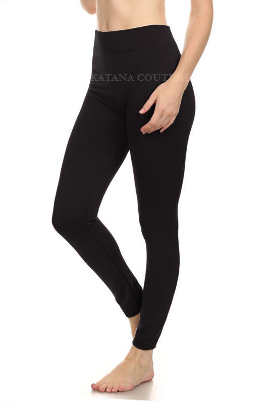 Super Soft Fleece Leggings - Black