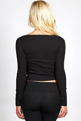 Essential Long Sleeve Crop Top