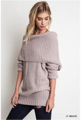 Light Mauve Knit Sweater