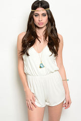 Backless Ivory Romper