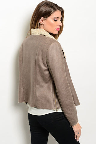 Cruelty- Free Shearling Jacket