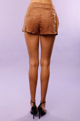 Lace Up Suede Festival Shorts