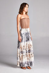 """Spring Rain"" Side Slit Maxi Dress"