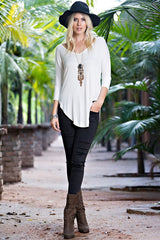 Quarter Sleeve Dolman Tunic