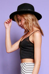 Mesh Inset Crop Top